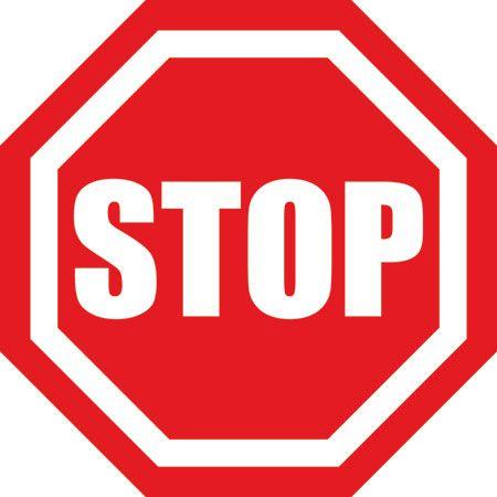 STOP Octagon Floor Sign