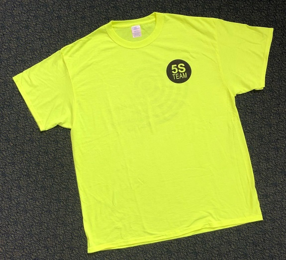 5S Team Safety Green T-Shirts