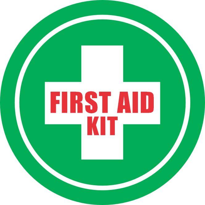 First Aid Kit Circle Sign