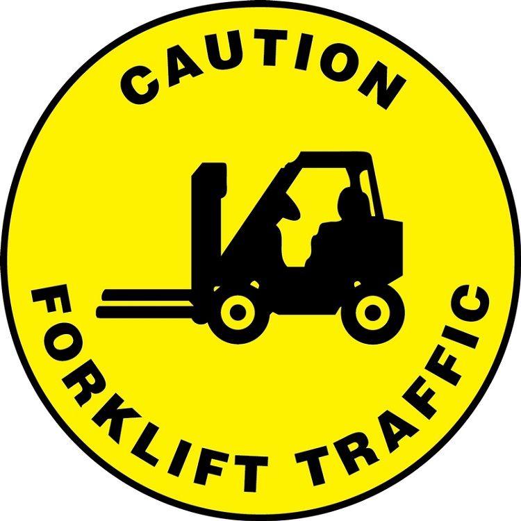 Slip-Gard Caution Forklift Traffic Floor Sign