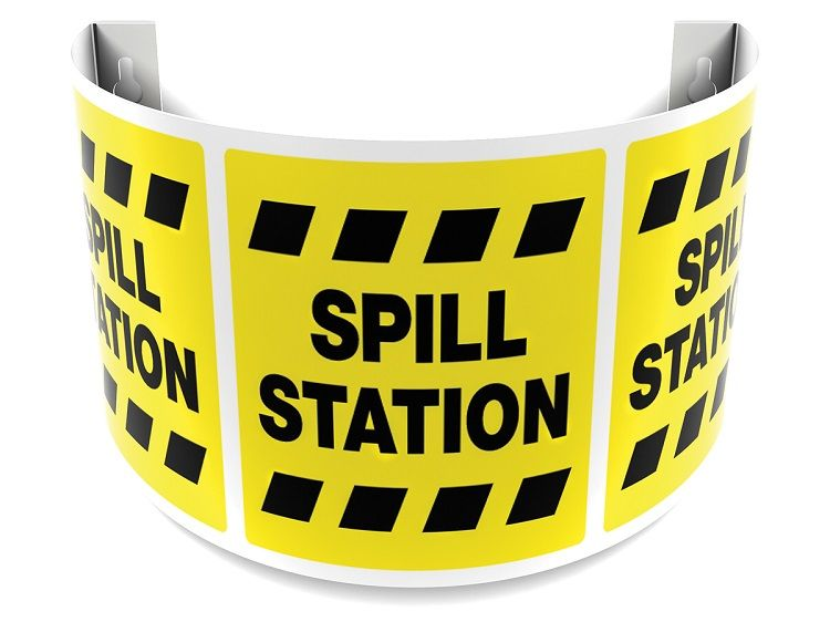 Spill Station 180D Projection Sign 40SPS139