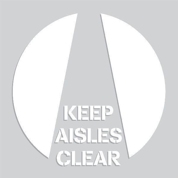 20 inch Keep Aisles Clear Stencil