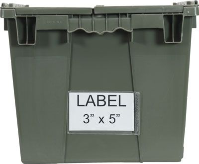 Container Label Holder, 24 pk