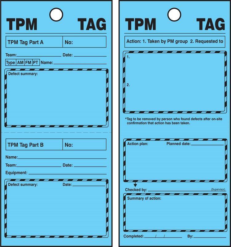 TPM Blue Tags, 25 pk