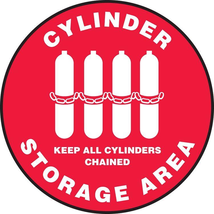 Slip-Gard Cylinder Storage Area Floor Sign