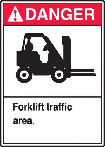Danger Forklift Traffic Area Sign