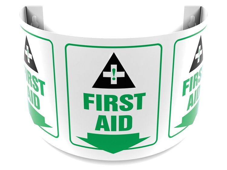 First Aid 180D Projection Sign