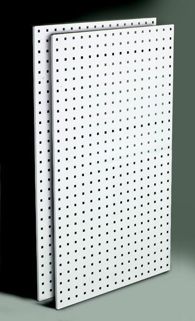 LocBoard 24 in. x 42 in. Industrial Steel Tool Board Pegboard 2 pk