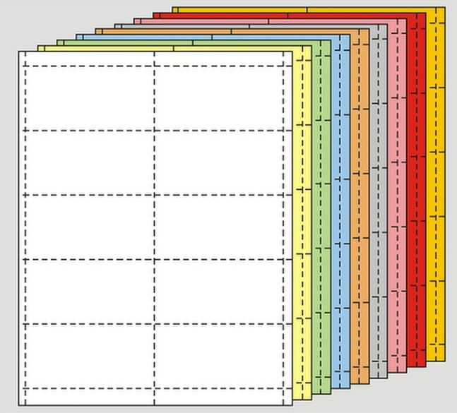 1 in. x 4 in. Perforated Card Sheets