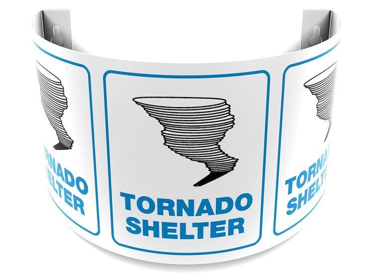 Tornado Shelter 180D Projection Sign