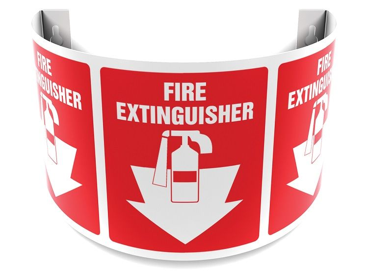 Fire Extinguisher 180D Projection Sign 40SPS111