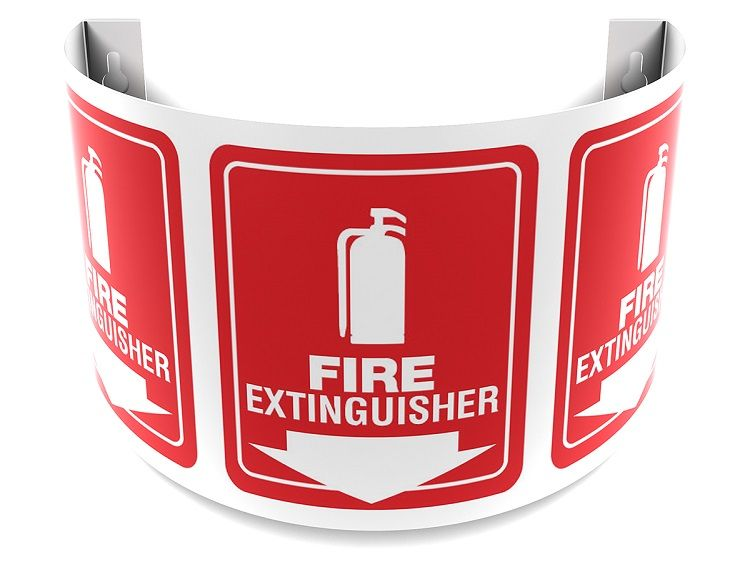 Fire Extinguisher 180D Projection Sign