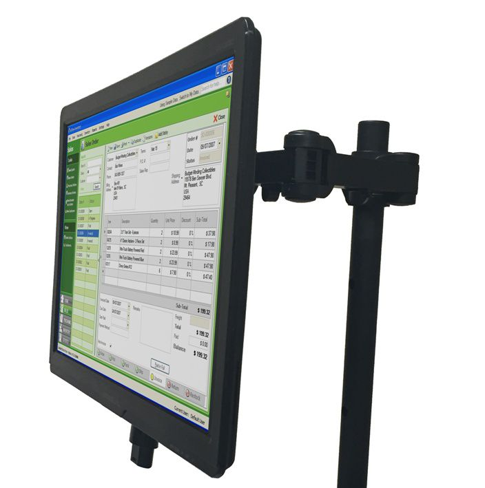 EcoCart Single Post Mount Monitor Holder