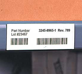 1 in. x 2 in. Shelf Label Magnets 25 pk