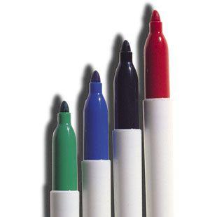 Damp Erase Medium Tip Markers 4 pk