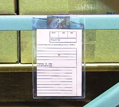 4 in. x 6 in. Job Ticket and Card Holder 25 pk 50HJTC4X6