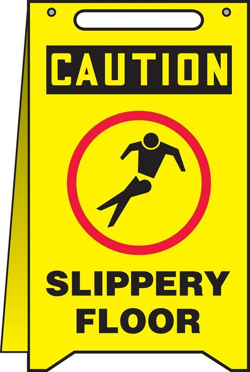 Fold-Ups Safety Sign: Caution Slippery Floor