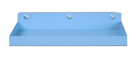 DuraHook 12 in. L x 6-1/2 in. D BLUE Epoxy Steel Shelf