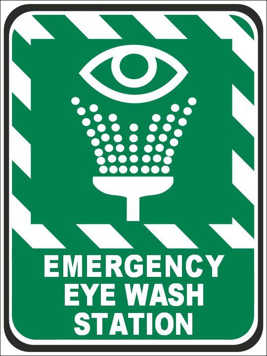 Emergency Eye Wash Station Sign