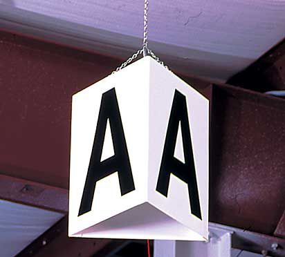 Blank 12 in. x 11 in. Triangular Hanging Sign