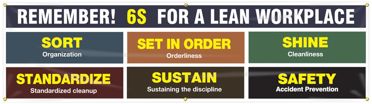 Safety Banners: Remember 6S For A Lean Workplace