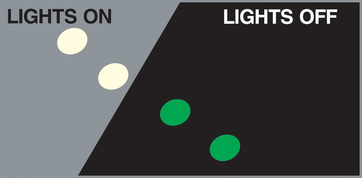 2 in. Glow-in-the-Dark Dots - 50 pk