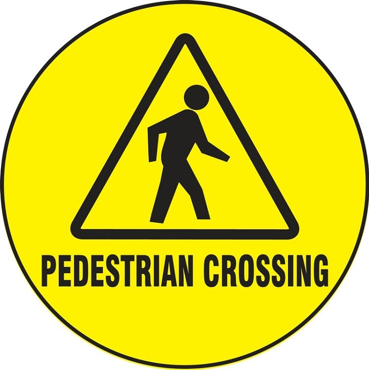 LED Floor Sign Projector Lens ONLY - Pedestrian Crossing