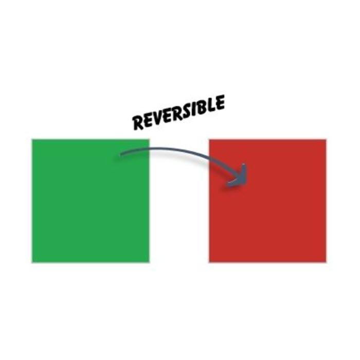 2 inch Red/Green Square Reversible Signal Magnets