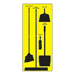 Cleaning Station Tools Shadow Board, Max-Duty Aluminum