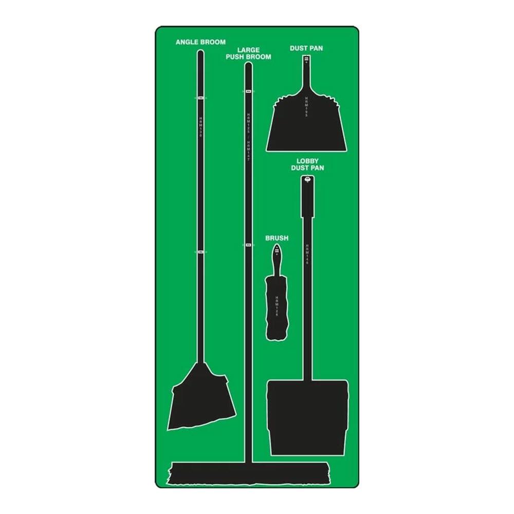 Cleaning Station Tools Shadow Board, Ultra Aluma-Lite