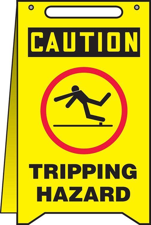 OSHA Caution Fold-Ups Safety Sign: Tripping Hazard