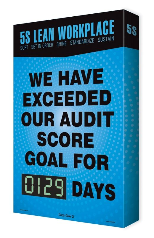 5S Audit Scoreboard: We Have Exceeded Our Audit Score Goal For _ Days 15SES502