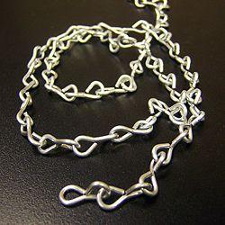 100' Zinc Chain Link, 0.5 in.