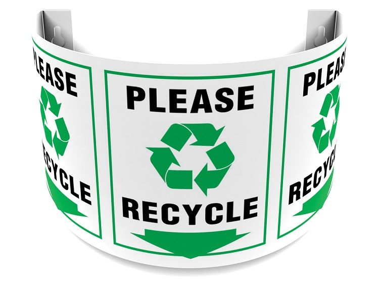 Please Recycle 180D Projection Sign