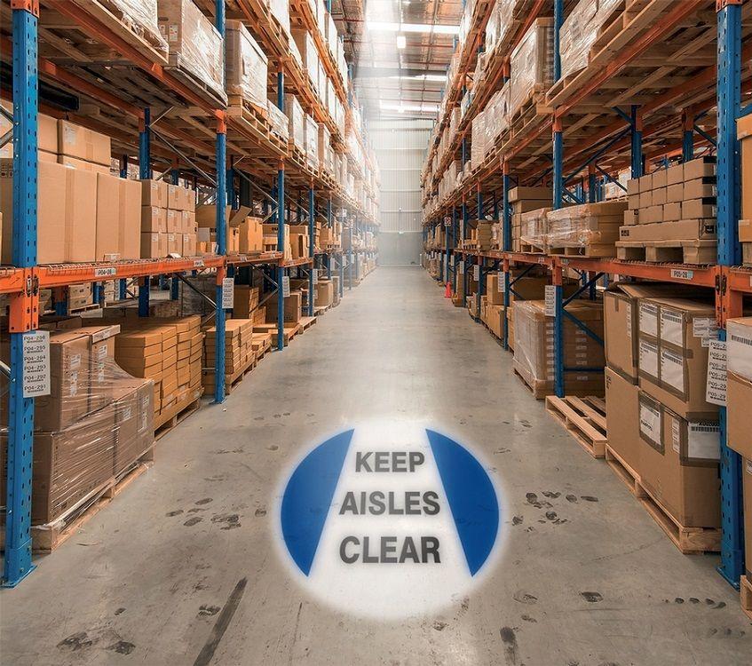 LED Floor Sign Projector - Keep Aisles Clear