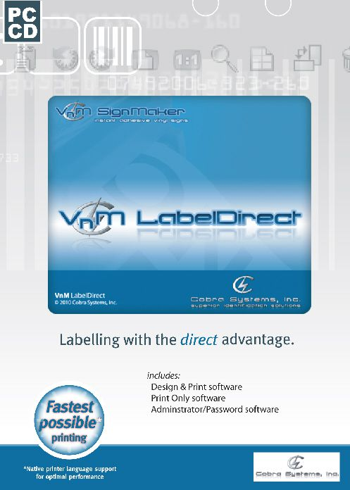 VnM LabelDirect Sign, Barcode and Label Software