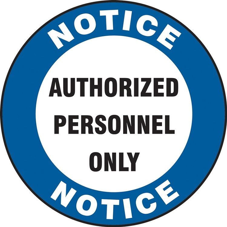 LED Floor Sign Projector Lens ONLY - Notice Authorized Personnel Only