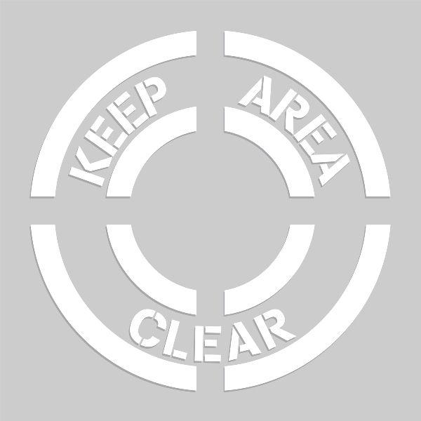 20 inch Keep Area Clear Stencil