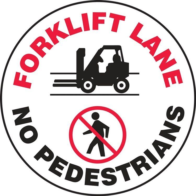 LED Floor Sign Projector Lens ONLY - Forklift/Pedestrian