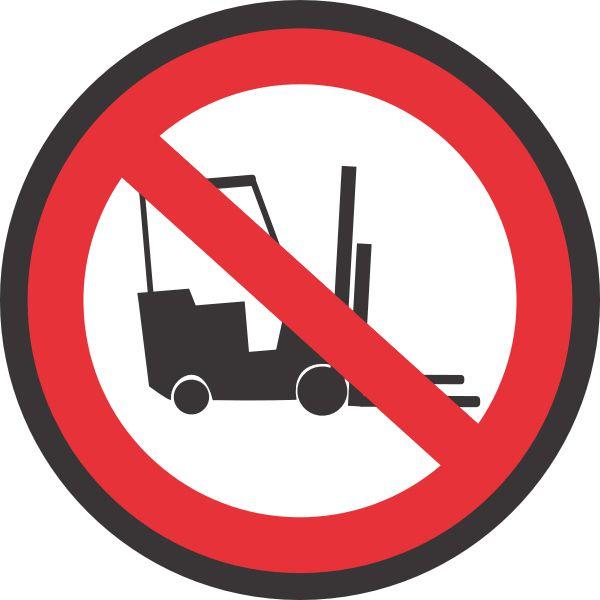 No Forklift Floor Sign