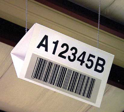 Blank 5 in. x 12 in. Dual Angled Hanging Sign