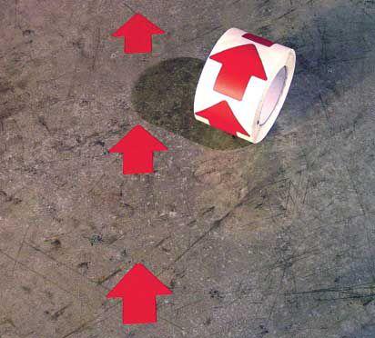 3 in. Arrow Floor Marking Symbols 500 pk