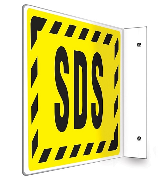 SDS 8 x 12 Projection Sign with Black Text