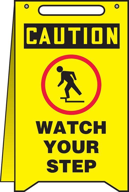 OSHA Caution Fold-Ups: Watch Your Step