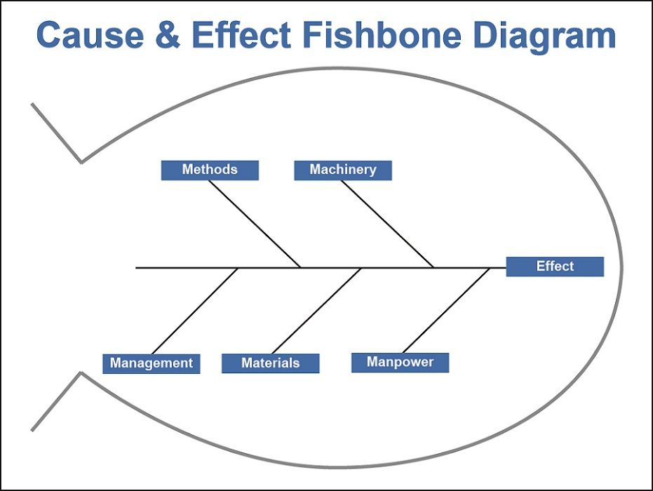 Cause and Effect Fishbone Diagram Whiteboard Overlay