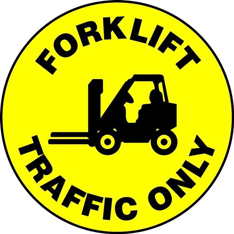 LED Floor Sign Projector Lens ONLY - Forklift Traffic