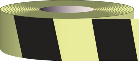 2 in. x 15' Glow-in-the-Dark Striped Tape
