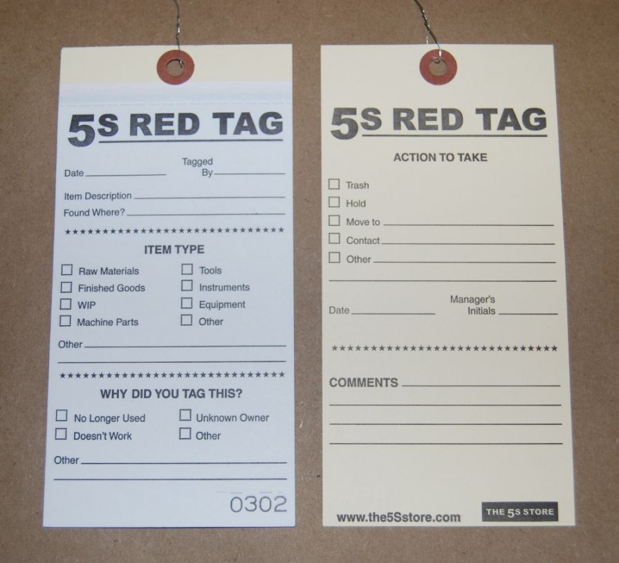 2 Part 5S Carbonless Red Tags, 50 pk 50T5R-CT