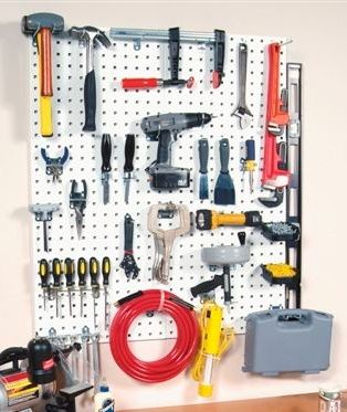 LocBoard (2) 18 in. x 36 in. Industrial Steel Tool Board Pegboard with 30 Piece Assortment Kit
