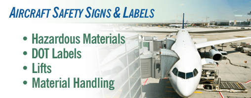 Aircraft Safety Signs